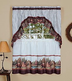 Achim Woodlands Tier and Swag Valance Set