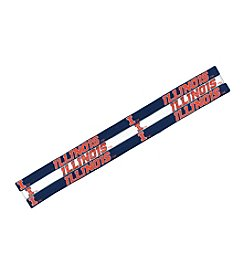 Little Earth NCAA University of Illinois Elastic Headbands - Set of 3