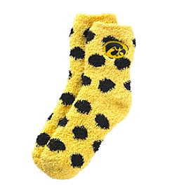 ZooZatZ™ NCAA® Iowa Hawkeyes Fuzzy Dot Socks