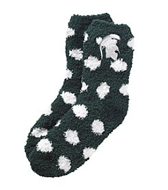 ZooZatZ™ NCAA® Michigan State Spartans Women's Fuzzy Dot Socks