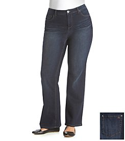 Ruff Hewn Plus Size Firehouse Wash Bootcut Jeans