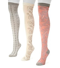 MUK LUKS® Women's 3-Pack Over-the-Knee Microfiber Socks