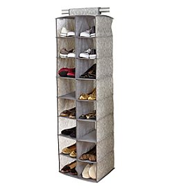 Laura Ashley® Non-Woven 16-Pocket Shoe Organizer