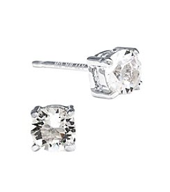 Athra Silver-Plated Swarovski® Crystal Stud Earrings