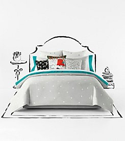kate spade new york® Platinum Deco Dot Comforter Collection
