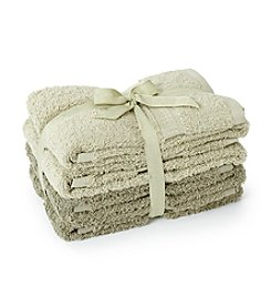 LivingQuarters 4-pk. Tonal Green Cotton Hand Towels