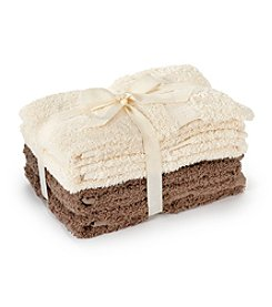 LivingQuarters 4-pk. Tonal Tan Cotton Hand Towels