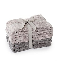 LivingQuarters 4-pk. Tonal Grey Cotton Hand Towels