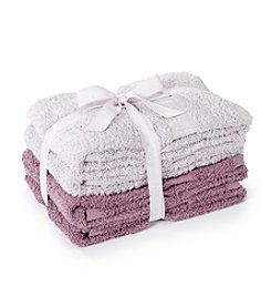 LivingQuarters 4-pk. Tonal Purple Cotton Hand Towels