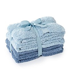LivingQuarters 4-pk. Tonal Blue Cotton Hand Towels