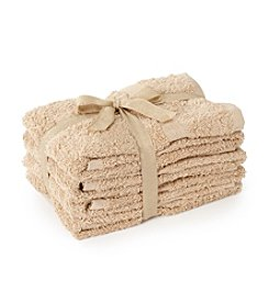 LivingQuarters 4-pk. Tan Cotton Hand Towels