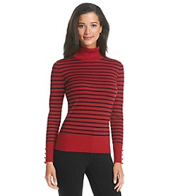 Cupio Striped Turtleneck Sweater