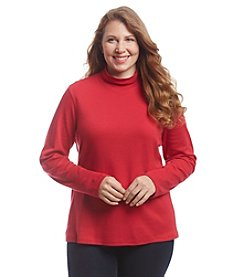 Studio Works® Plus Size Mock Neck Pull Over Top