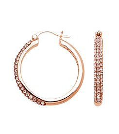 Impressions® Hoops  in Sterling Silver with Rose Swarovski Crystal