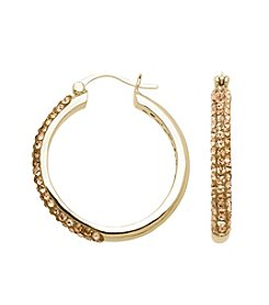 Impressions® Hoops in Sterling Silver with Golden Brown Swarovski Crystal