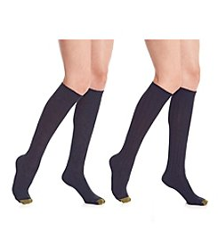 GOLD TOE® 2-Pack Argyle Wool Knee High Socks