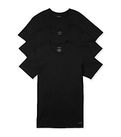 Calvin Klein Men's 3-Pack Short Sleeve Slim Fit Crewneck Tee