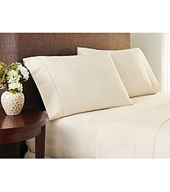Welspun Crowning Touch™ Cotton Naturals Jacquard Sheet Set
