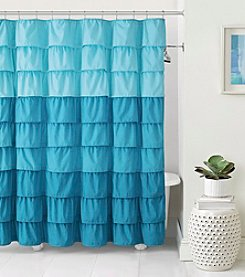Victoria Classics Sally Ruffle Shower Curtain
