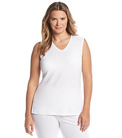 Cuddl Duds® Plus Size Softwear Lace V Neck Tank Top