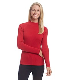 Studio Works® Ribbed Mockneck Sweater
