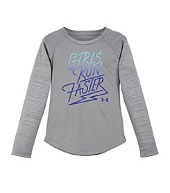 Under Armour® Girls' 2T-6X Girls Run Faster Long Sleeve Tee