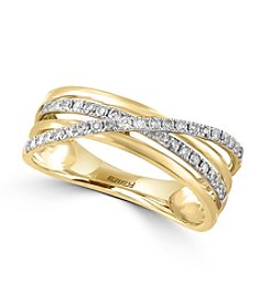 Effy® .29 ct. t.w. Diamond Ring In 14K Yellow Gold