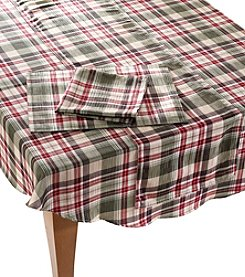 LivingQuarters Dunmore Plaid Table Linens
