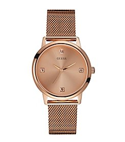GUESS Rose Goldtone Mesh Bracelet Watch
