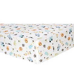 Trend Lab Jungle Friends Flannel Crib Sheet