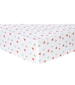 Trend Lab Triangles Flannel Crib Sheet