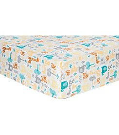 Trend Lab Lullaby Zoo Flannel Crib Sheet