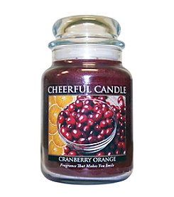 A Cheerful Giver Cranberry Orange Candle