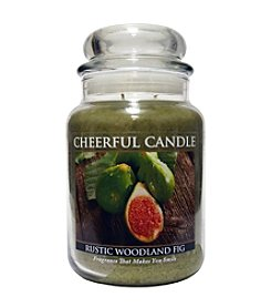Cheerful Candle Rustic Woodland Fig Candle