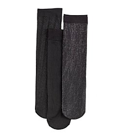 Relativity® 3-Pack Shimmer Trouser Socks