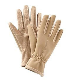 Isotoner Signature® Spandex Fleece Gloves With Contrast Stitch