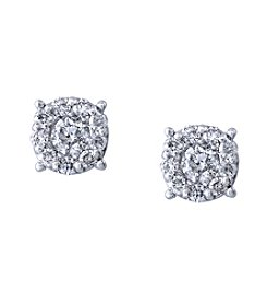 Effy® Bouquet Collection 1.0 ct. t.w. Diamond Earrings In 14K White Gold