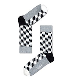 Happy Socks® Men's Optic Pattern Crew Socks
