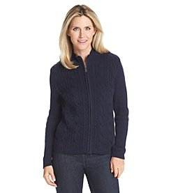 Studio Works® Petites' Long Sleeve Zip Front Cardigan
