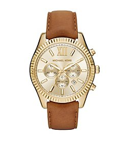 Michael Kors® Women's Goldtone Lexington Watch With A Luggage Strap