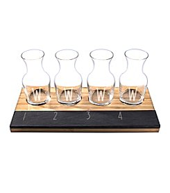 Cathy's Concepts Personalized 6.5-oz. Bamboo and Slate Wine Tasting Flight