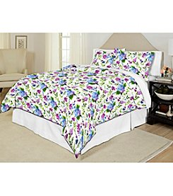 Pointehaven Primavera 200-Thread Count Printed Percale 3-pc. Duvet Set