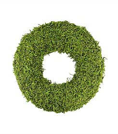 Artificial Spring Wreath with Green Reindeer Moss