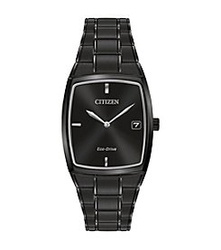 Citizen® Men's Black Stainless Steel Watch