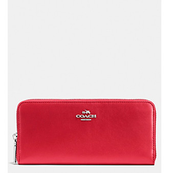COACH SLIM ACCORDION ZIP WALLET IN SMOOTH LEATHER -  adult