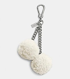 COACH SHEARLING POM POM BAG CHARM