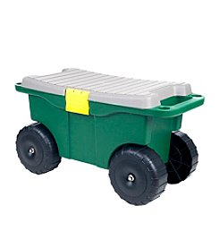 Pure Garden Plastic Garden Storage Cart and Scooter