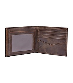 Fossil carsons fossil mens derrick leather rfid bifold with flip id wallet colourmoves