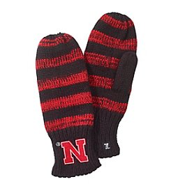 ZooZatZ™ NCAA® Nebraska Cornhuskers Women's Striped Mittens