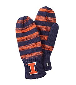 NCAA® University of Illinois Striped Mittens